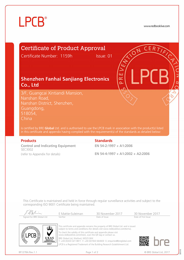 Congratulations - 6 Products of Sanjiang get LPCB Certificates